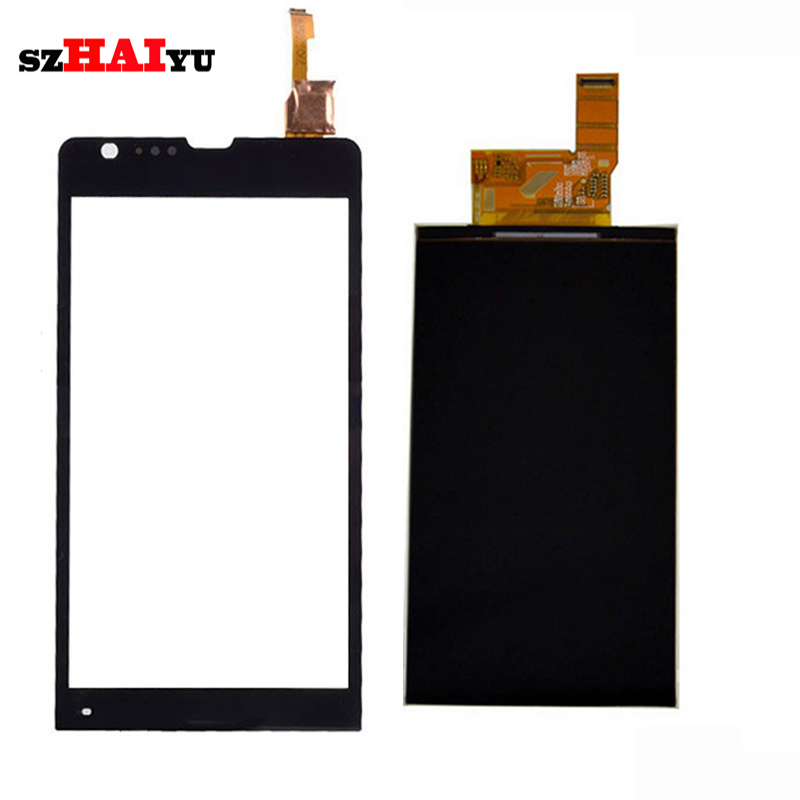 Front Touch Screen Digitizer Glass Panel + <font><b>LCD</b></font> Display for Sony Xperia SP M35H C5302 <font><b>C5303</b></font> C5306 <font><b>LCD</b></font> + Sticker + Free Tool image
