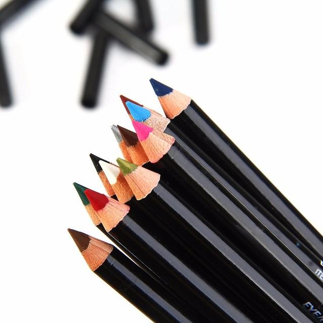 12 Cores de Maquiagem Lápis Delineador À Prova D' Água Sobrancelha Beauty Eye Liner Lip varas Cosméticos Olhos Maquiagem Delineador Glitter
