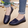 Women Loafers Flat Shoes Plus Size 34-41 New Autumn Genuine Leather Moccasins Flats Leather Female Casual Soft Shoes Women Shoes
