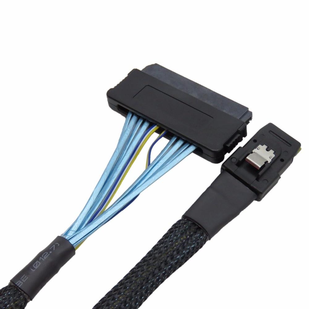 50CM Internal 36 Pin Mini SAS SFF-8087 Controller  to SFF-8484 SAS 32Pin backplane Data Cable w/ Nylon Jacket internal mini sas sff 8087 to mini sas