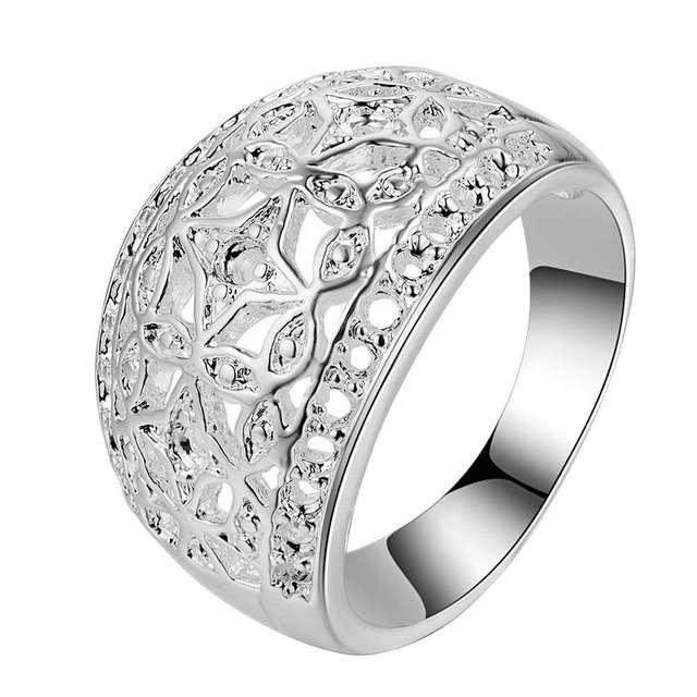 Arco classico carve modello all'ingrosso gioielli in argento 925 anello, ane