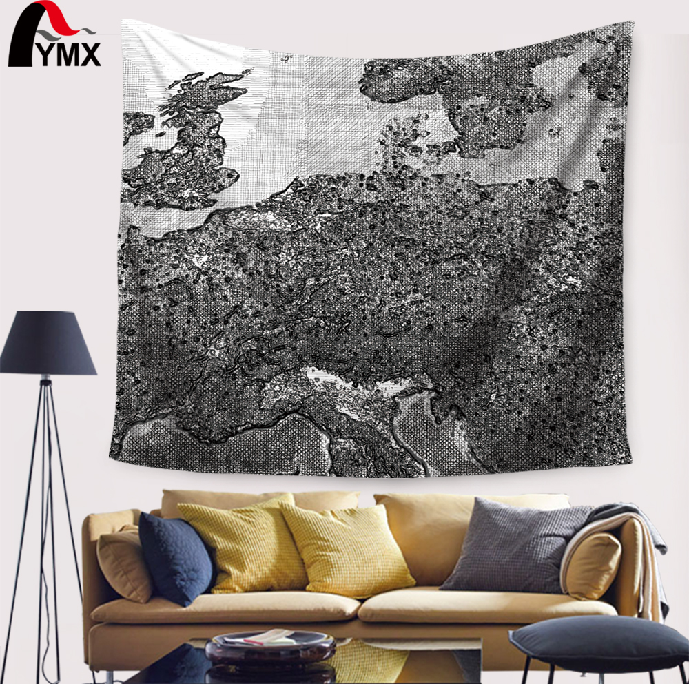 World map printing mandala tapestry wall hanging home textile world map printing mandala tapestry wall hanging home textile decorative geometric wall tapestry yoga mat blanket in tapestry from home garden on gumiabroncs Choice Image