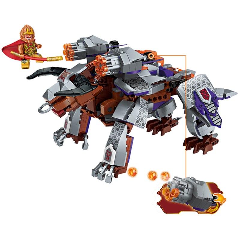 Enlighten Journey West Attack White Bone Flying Dragon Gyro Marvel Building Blocks Kits Toys Compatible Legoings Nexus Ninja 100% Original Blocks Model Building