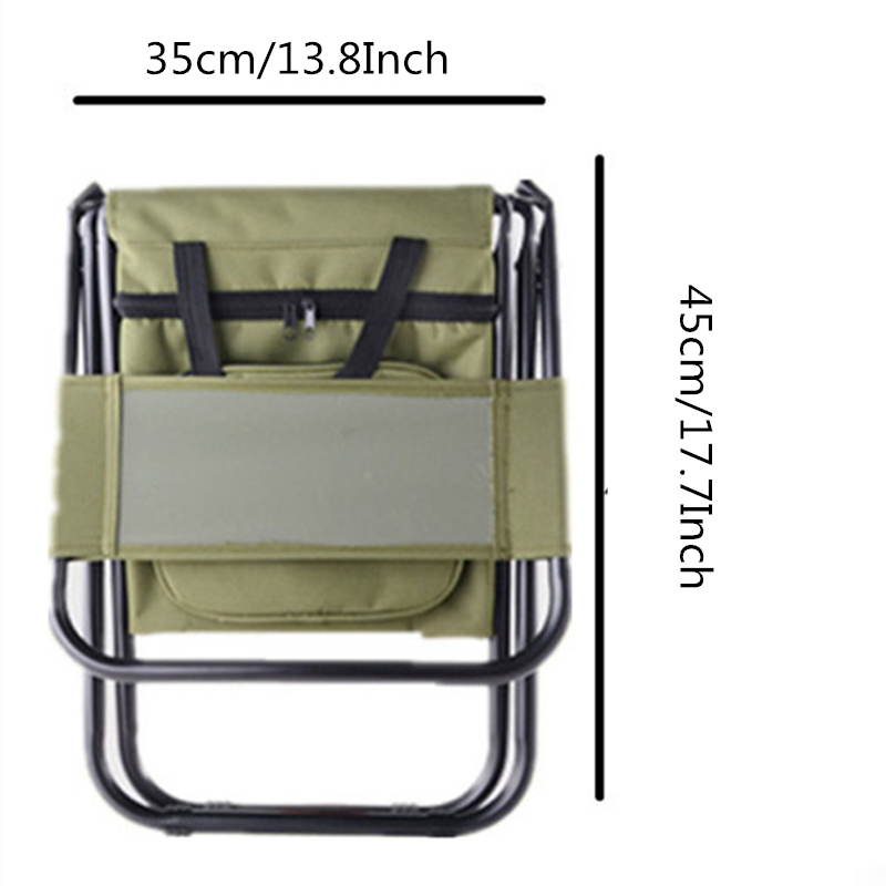 Image 4 - VILEAD Folding Portable Camping Cooler Chair Picnic Fishing Beach Hiking Outdoor Ultralight Seat Table Backpack Camping Stools-in Camping Chair from Sports & Entertainment