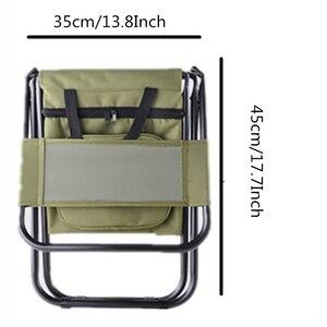 Image 4 - Vilead折りたたみポータブルキャンプクーラー椅子ピクニック釣りビーチハイキングアウトドアリュック超軽量シートテーブルキャンプスツール