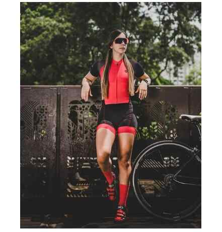 2019 Pro equipo triatlón traje mujer ciclismo Jersey Skinsuit Jumpsuit Maillot ciclismo Ropa ciclista conjunto Rosa gel pad