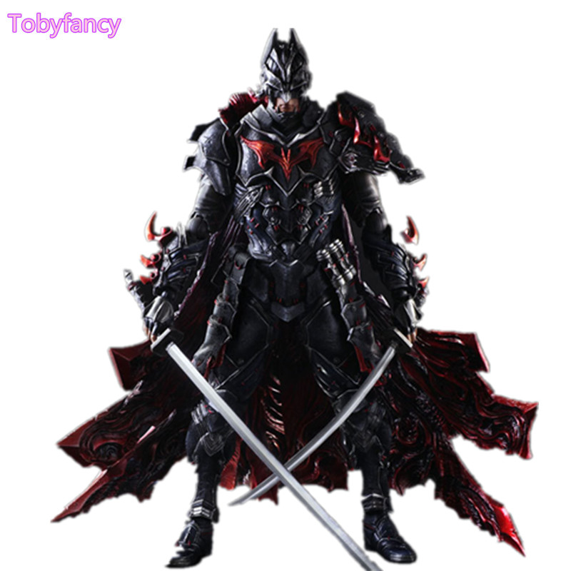 Bushido Batman Play Arts Kai PVC Action Figure Toys 270mm Anime Movie Warrior Batman Playarts Kai Model Toy gogues gallery two face batman figure batman play arts kai play art kai pvc action figure bat man bruce wayne 26cm doll toy