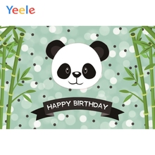 Yeele Panda Green Bamboos Happy Birthday Party Portrait Baby Photography Backdrops Photographic Backgrounds For Photo Studio