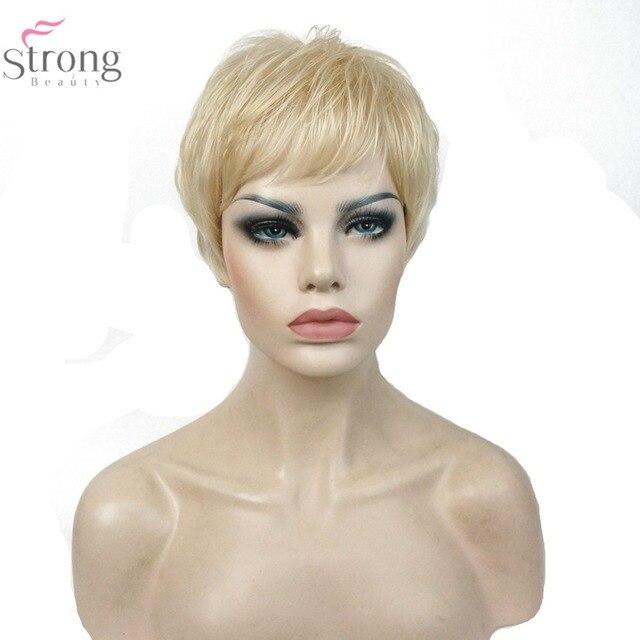 Strongbeauty 613 Blonde Perücke Sehr Kurze Gerade Frisuren Haar