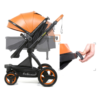 Luxury Baby Stroller 3 in 1 With Car Seat High Landscape Pram For Newborns Travel System Baby Trolley Walker Foldable Carriage 1