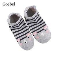 Goebel Short Tube For Girls Creative Cute Cotton Women Socks Cartoon Comfortable Woman Summer Socks 2pairs