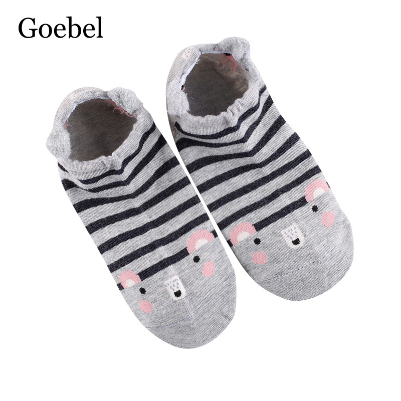 Goebel Short Tube For Girls Creative Cute Cotton Women Socks Cartoon Comfortable Woman Summer Socks 2pairs