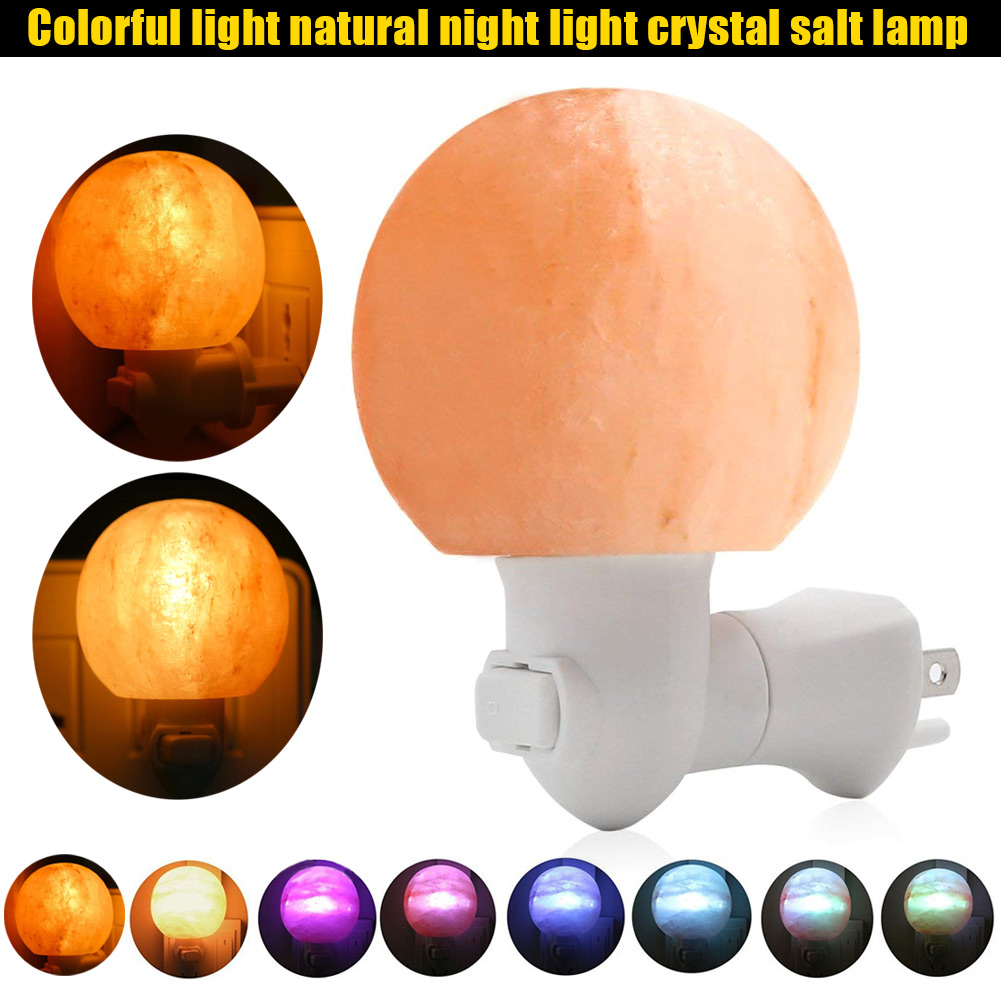 Round Himalayan Salt Light Mini Decorative Wall Light Salt Lampshade for Bedrooms Home JDH99