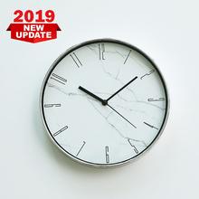 Marmurkowa tarcza zegara nowoczesny salon zegar ścienny do domu osobowość zegar sypialnia zegar kwarcowy tanie tanio DIGITAL Mechaniczne 1100g Antique style Zegary ścienne circular Szklane i kryształowe 302mm NZ109