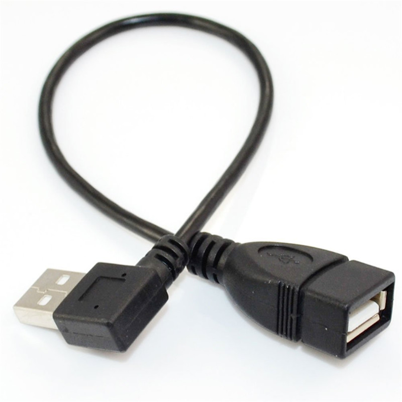 1 Pcs Special Offer Universal 25cm USB A Female to Male F/M Left 90 Degree Down Angled Adapter Convertor Extension Cable Cord connector plug 90 degree left right up down usb male to female angled l shaped adaptors usb extension adapter