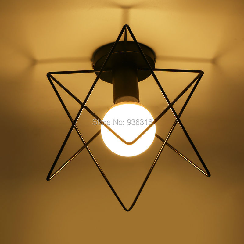 Luzes de Teto pirâmide lâmpada gaiola de metal Interruptor : Interruptor