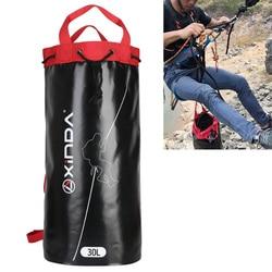 30L 45L lina wspinaczkowa torby do przechowywania plecak na wycieczki górskie do chowania kabli uchwyt na plecak na zewnątrz sprzęt do zjazdu po linie