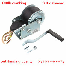 CarBole 6 Meters length Heavy Duty Winches with 600 lbs Hand Crank StrapWinch for Bales ATV Jet Ski Trailer Boat