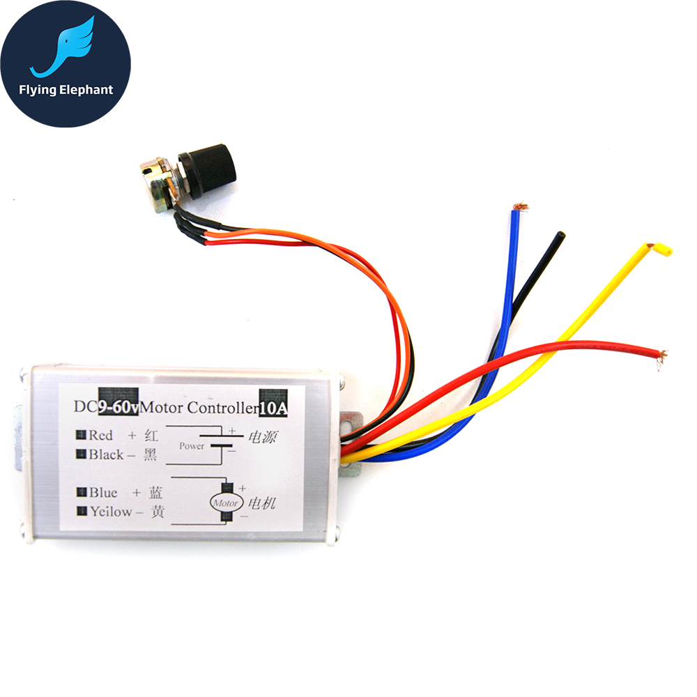 Home Improvement Motor Controller Universal Dc9-60v Motor Controller 10a Pwm Hho Dc Speed Control Switch 2018 New Arrival