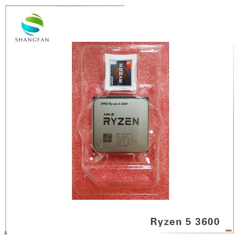Novo AMD Ryzen 5 3600 R5 3600 Six-Core Doze-Fio CPU Processador de 3.6 GHz 7NM 65W l3 AM4 32 = M 100-000000031 Tomada