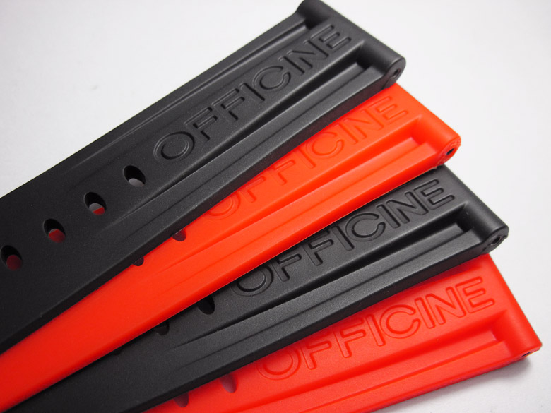 22 24 26mm High Quality Black Orange Wristband Mountain Diving Outdoor Rubber Silicone Straps Watchbands For Panerai PAM432111
