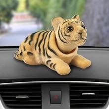Автомобиль орнамент кивая Тигр кукла Автомобильный интерьер Dashboard украшения качая головой Пупс Игрушечные лошадки с симпатичными машинками Интимные аксессуары Подарки
