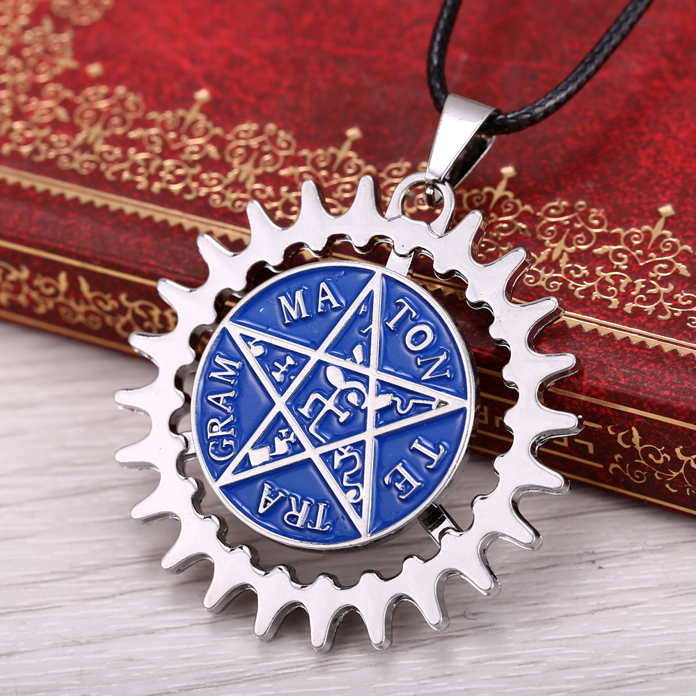 MS JEWELS Black Butler 360 Degree Turnable Pendant Necklace Quality Metal Jewelry Gifts for Cosplay