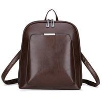 Роскошный женский кожаный рюкзак для ноутбука Женская Повседневная bagpack женские школьные сумки и портфели для девочек подростков ноутбук т