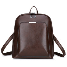 Luxury female leather laptop backpack casual Woman bagpack women's bags school bags for teenage girls notebook travel backpacks