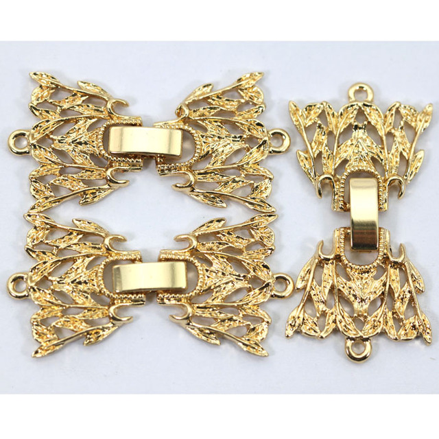 High Quality Jewelry Clasps Wholesale New Fold Over Clasps Necklace Bracelet Hooks Accessories New Free Shipping JC018