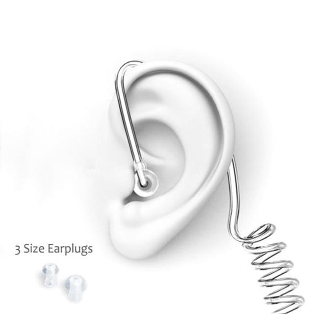 مكتب التحقيقات الفيدرالي نمط كول سماعة أذن داخلية الإشعاع حماية سماعة رصد سماعة الأذن talkour مذياع صغير أنابيب الهواء سماعات الأذن