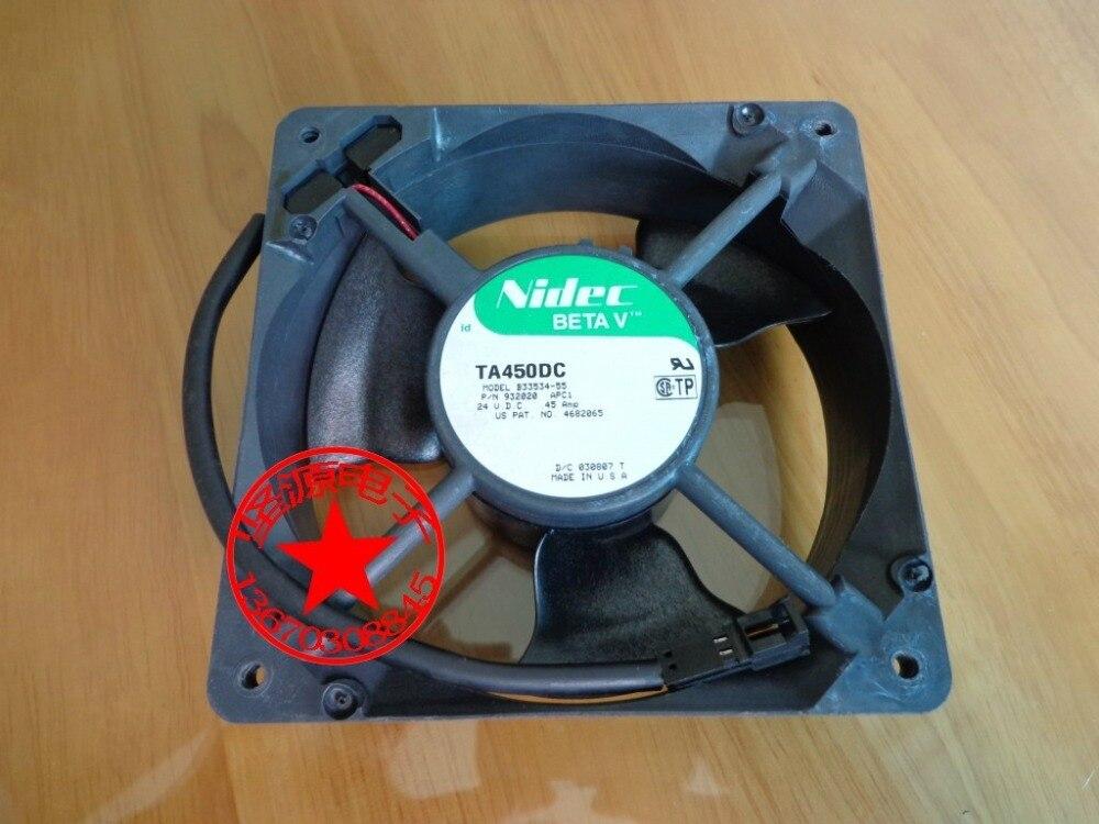 Nidec B33534-55, P/N;932020, APC1 DC 24V 0.45A  2-Pin  120x120x38mm Server Square  Fan gf go7300 b n a3 gf go7400 b n a3