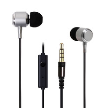 HAOBA In-Ear Earphones cable with metal bass HIFI wheat stereo earphone wholesale fashion KDK-39 stereo in ear earphone black 3 5mm plug 118cm cable