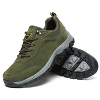 Big Size Hiking Shoes For Men Women Waterproof Hiking Boots Cow Leather Camping Sneaker High Top