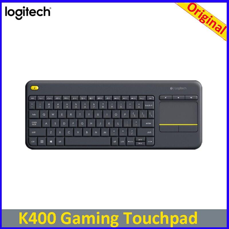 Logitech K400 ordinateur portable de jeu PC Gamer ergonomie originale pavé tactile Mini ordinateur TV clavier sans fil