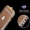 """Para iphone 6 plus caso strass adesivos quadro casos claros cristal Bling Gliter Phone cases para iPhone 6 Plus 5.5 """"protetor"""