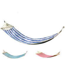 Extended color canvas hammock field camping outdoor recreational swing chair rocking bedroom furniture hanging tent