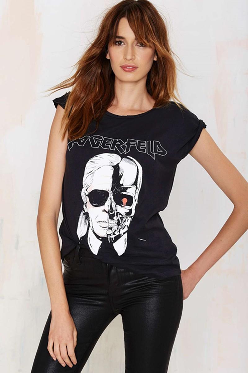 HTB1TF.9MXXXXXaiXpXXq6xXFXXXy - New Skeleton Head Printed Tee In Black Zombie Skull Punk Rock