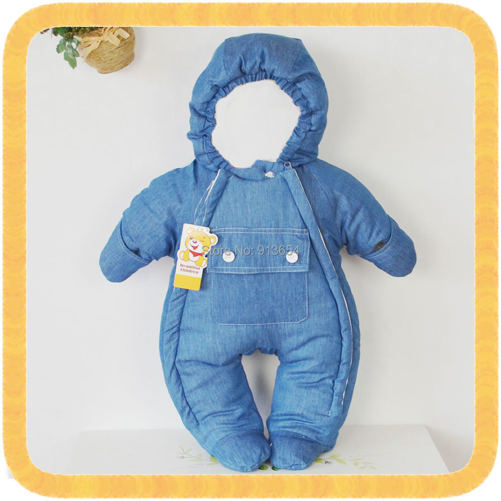 new 2016 autumn winter romper baby clothes newborn thick cotton Rompers baby boys soft denim jumpsuit baby girls warm overalls baby clothes autumn winter baby rompers jumpsuit cotton baby clothing next christmas baby costume long sleeve overalls for boys