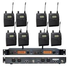 В ухо Мониторы Беспроводной Системы sr2050 Двойной передатчик Мониторы ing Профессиональный для сценического выступления 8 приемников