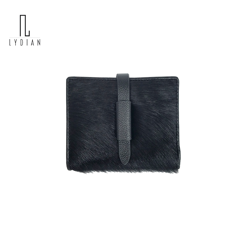 2018 Winter Women Leopard Purse famous Designer Leather Belt Wallets Cowhide Horse Wallet Real Leather Coin Case Black Purse Bag