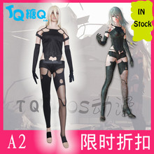 Game NieR Automata A2 Black Unifrom Sexy Cosplay Costume Top + pants + Free Track Anime