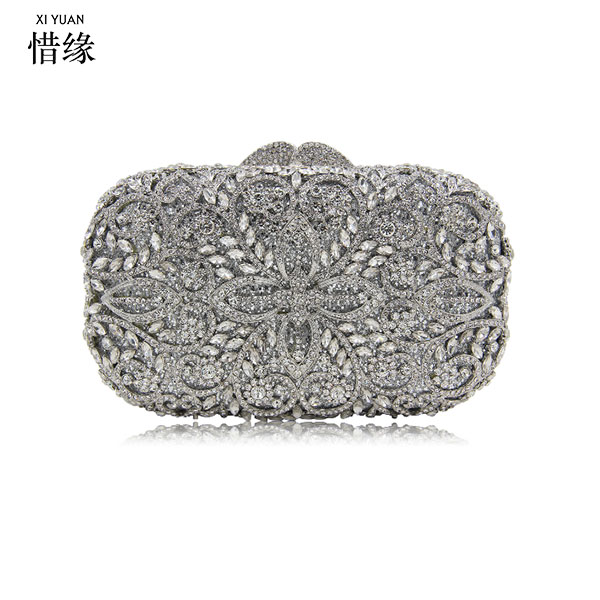 XIYUAN BRAND Clutch Luxury Gold Silver Crystal Diamond Day Clutches Evening Bag Wholesale Rhinestone Bride Wedding Clutch Bag luxury pearl blue clutch evening bag purse party wedding bride clutches ladies crystal diamond rhinestone bag day clutches gifts