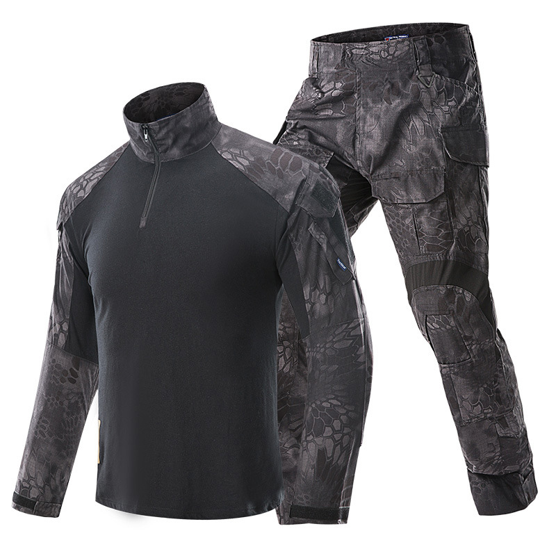 2021 Hot Camouflage Tactical Military Uniform Personality Special Forces Soldier Suit Combat Shirt Pants Tactics Permeability