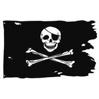 Johnin 90*150 cm Creepy Ragged oudere gebroken jolly roger Skull Cross bones Piraat Vlag
