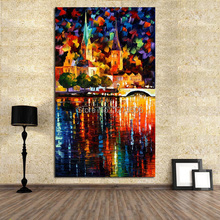 Decorative Canvas Oil Painting Beautiful Wall Art Modern Knife Picture Home Decor No Frame