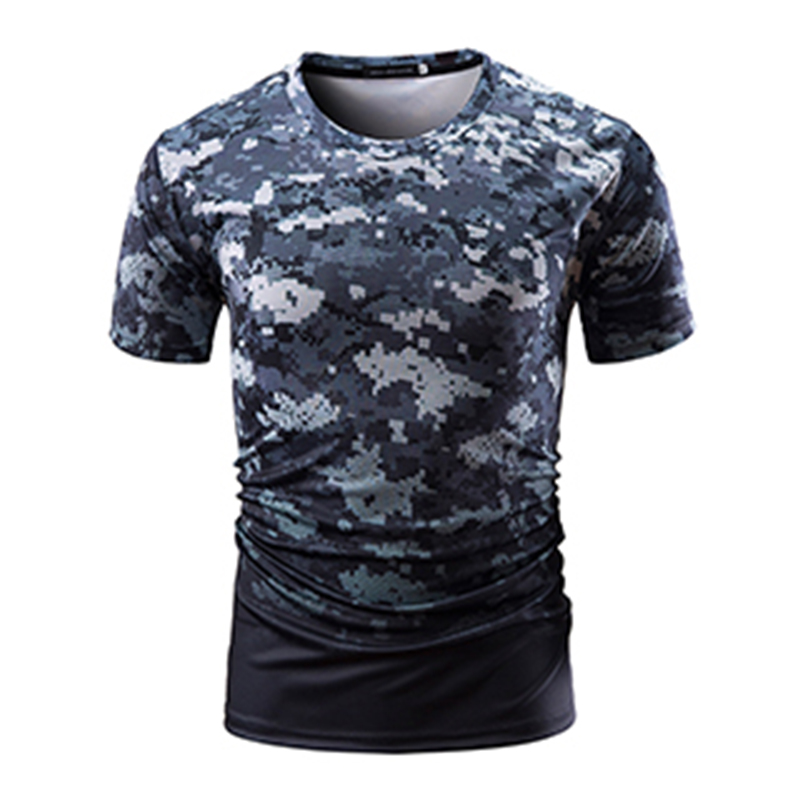 2019 Summer Casual O Neck Men's T-Shirt Short Sleeve Print Cottont-Shirt Bodybuildingtops Slim Fit Tee Fashion Male Clothing D40