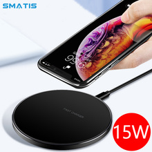 15W Qi Fast Wireless Charger for Huawei Mate20 Samsung S9 S8 S7 S6 10W Quick Charging Pad for iPhone X XS MAX XR 8 Xiaomi Mix 2S xiaomi wireless charger for xiaomi mix 2s samsung s9 iphone x qi wireless quick charging smart compatible for mobile phones