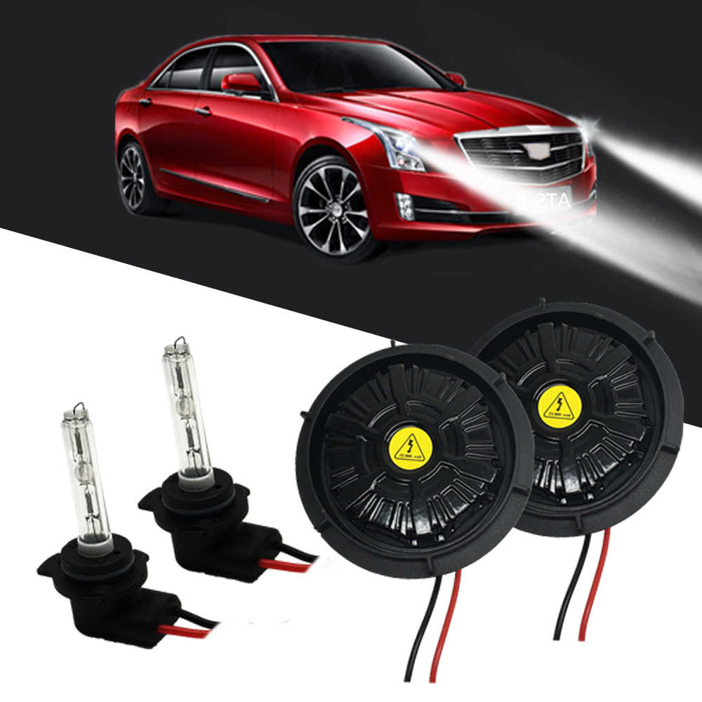 Plug and Play NO Error Headlight 9012 HIR2 bulbs XT5 ATS-L ATS lights 9012 high low bixenon projector 6000K 9012 hid kit 55W