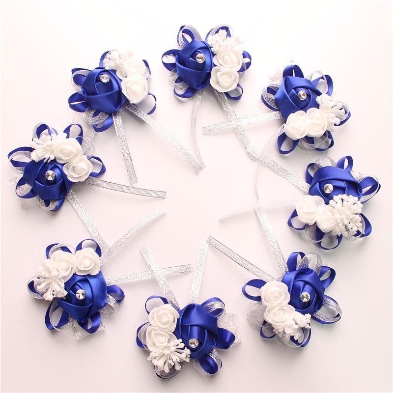 Wrist Corsage Bridesmaid silk flower  (16)
